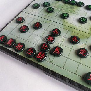 大號中國象棋 磁性象棋盤 鵝卵石工藝象棋