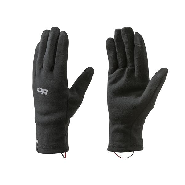 [OUTDOOR RESEARCH] (女) Woolly Sensor Liners 保暖羊毛薄手套 黑 (253957-0001)
