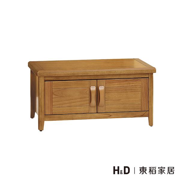 愛莉絲柚木3尺收納坐鞋櫃 (21SP/859-1)