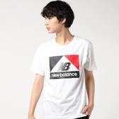 NEWBALANCE NB 白 黑紅 三角 Logo T恤 短袖 短T 男 (布魯克林) AMT93522WT