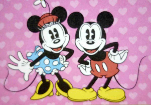 【震撼精品百貨】Micky Mouse_米奇/米妮 ~卡片-米奇米妮愛心粉站