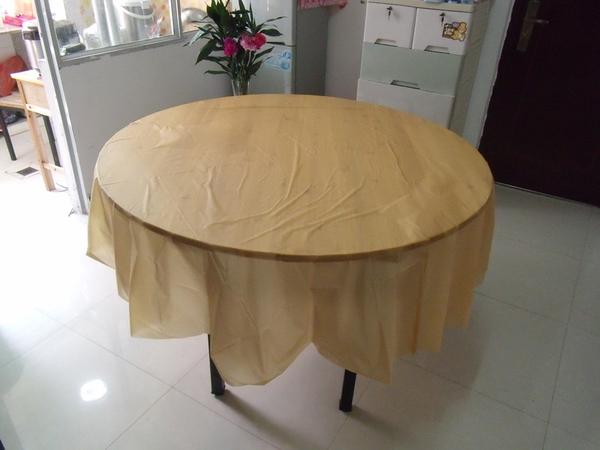 [韓風童品]一次性圓形桌桌布 素色加厚桌布 派對桌巾 防水防油加厚桌布 生日派對 露營桌布