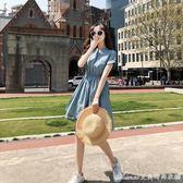 洋裝女夏新款冷淡風極簡超仙小清新小個子少女仙氣顯瘦裙子艾美時尚衣櫥