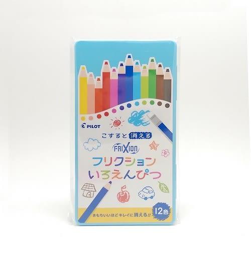 藍盒款 百樂 PILOT魔擦色鉛筆 FRIXION(12色/組) (1834) 小學生文具 -超級BABY