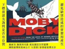 二手書博民逛書店梅尔维尔大白鲸罕見插图精装3D立体书 Moby-Dick A Pop-Up Book from the Novel