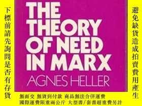 二手書博民逛書店The罕見Theory Of Need In Marx-馬克思的需要論Y436638 Agnes Heller