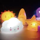 Qmishop 可愛星星月亮太陽雲朵小夜燈 創意卡通禮物【J1810】