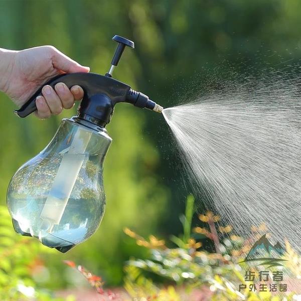手動氣壓式透明噴壺澆花灑水澆水壺小型噴霧器【步行者戶外生活館】
