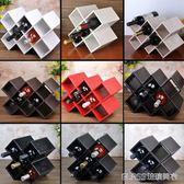 創意實木紅酒架子歐式菱形酒瓶柜客廳黑胡桃擺件葡萄酒家用酒格子     琉璃美衣