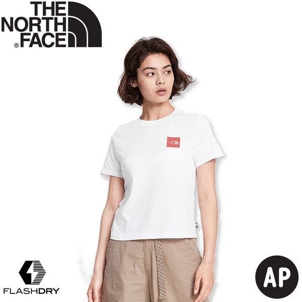 【The North Face 女 LOGO短袖上衣AP《白》】499Y/短T/T恤/休閒短袖