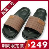 【333家居鞋館】貼合包覆★丹寧潮感室外拖鞋-咖