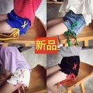 *╮小衣衫S13╭*夏季兒童彩色繩子繫帶百搭毛邊短褲1090317