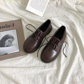 娃娃鞋森系小皮鞋女韓版百搭學生圓頭軟妹單鞋系帶復古日系 芊墨左岸