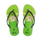 QWQ創意鞋-台灣吧!女款細帶人字拖 白米 Mijo