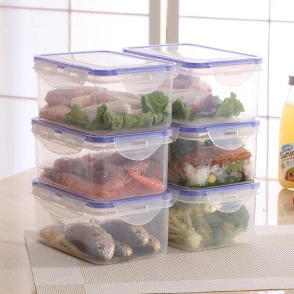 塑料保鮮盒套裝冰箱微波專用飯盒便當盒密封盒餃子盒 智聯igo