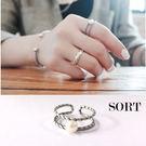 戒指 雙層麻花復古珍珠指環開口式戒指【1DDR0040】