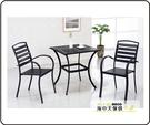 {{ 海中天休閒傢俱廣場 }} J-42 摩登時尚 房間椅系列 573-4A 黑塑木休閒方桌椅組