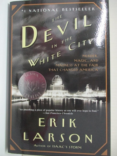 【書寶二手書T1/原文小說_IE8】The Devil in the White City: Murder, Magic, and…
