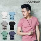 ToGetheR+【M10601】繽紛定番款彈性素面舒適圓領上衣(七色)
