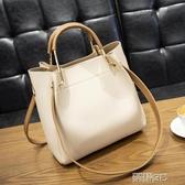 手提包 時尚水桶包包女新款潮韓版百搭單肩包大容量簡約手提女包 雙12