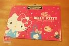 Hello Kitty 凱蒂貓 45週年 A4橫式板夾 桃 4710150 218379