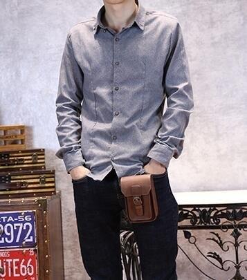 FINDSENSE Z1 韓國 時尚 潮 男 皮質 5寸 手機包 香煙包 迷你多