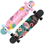 長板公路四輪滑板車青少年男女生舞板成人 初學者滑板WY 【快速出貨】