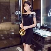 現貨黑S一字領洋裝小禮服伴娘裙28139/現貨類商品請和其他商品分開下單謝謝