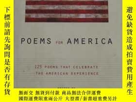 二手書博民逛書店英文原版書Poems罕見for America:125 Poem