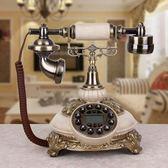 聖誕節仿古電話 仿古電話機 老式 歐式復古田老式家庭辦公有繩電話機 創意電話 俏女孩