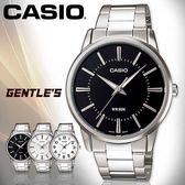 CASIO手錶專賣店 卡西歐  MTP-1303D-1A 男錶  黑面 指針 數字 防水50米 礦物玻璃 三折式 不繡鋼錶帶