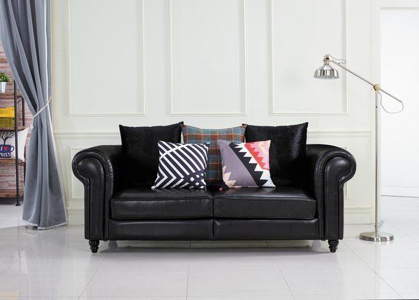 【森可家居】羅德曼三人位沙發 7JX202-3 特價品