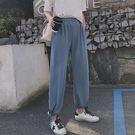 長褲 素色 燈籠褲 長褲 抽繩 縮口褲 哈倫褲 鬆緊腰 九分褲【YF601】 BOBI  03/21