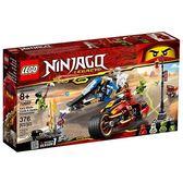 樂高積木 LEGO《 LT70667 》 NINJAGO 旋風忍者系列 - 赤地的刀鋒轉輪車及冰忍的雪地摩托車╭★