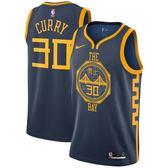 NIKE NBA SWINGMAN 男裝 球衣 復古 勇士 城市版 CURRY #30 藍 【運動世界】 AJ4610-428