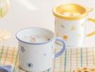 早餐杯 日式陶瓷杯簡約馬克杯帶蓋勺情侶早餐杯可愛咖啡杯家用水杯子少女【快速出貨八折下殺】