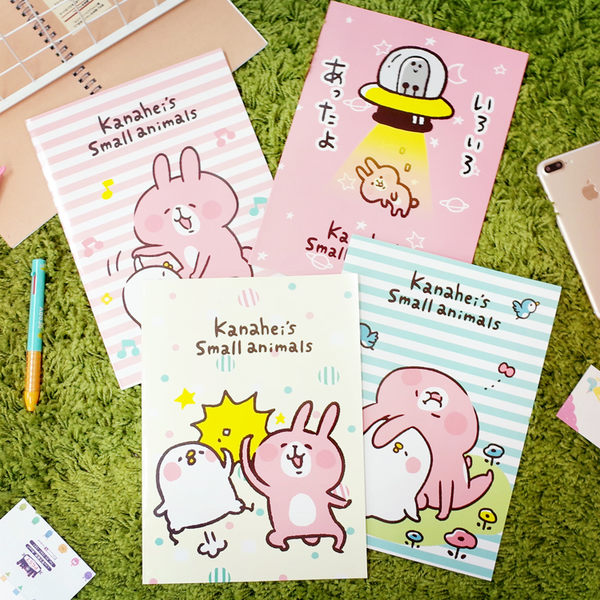 PGS7 卡娜赫拉系列商品 - 卡娜赫拉 Kanahei 16開 筆記本 記事本 P助 兔兔【SHA7694】