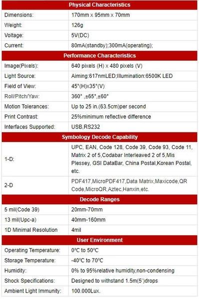 DK-6262無線二維條碼掃描器含底座USB介面/可讀取發票上的中文品名