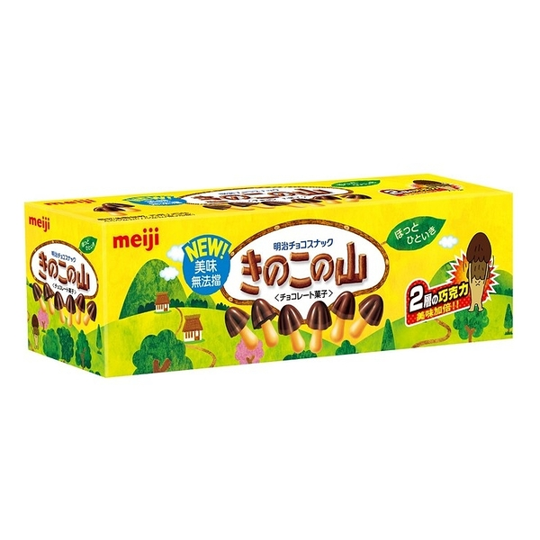 【 現貨 】明治香菇造型巧克力餅乾 74公克 X 6入