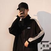 加絨外套男秋冬潮流休閒韓版棒球服運動夾克上衣【左岸男裝】