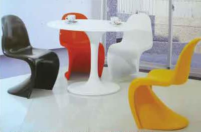 【南洋風休閒傢俱】設計單椅系列-復刻潘頓s+80圓桌 椅 S椅  接洽椅 設計師單椅(536-4)