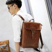 後背包男包雙肩包旅游包時尚潮流男士背包大容量PU韓版學生書包zzy1389『雅居屋』