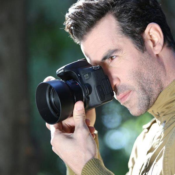 佳能ES-68遮光罩 佳能50mm F1.8 STM 新小痰盂鏡頭卡口50 1.8