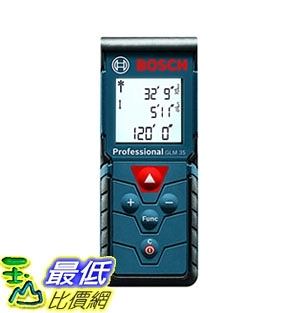 [7美國直購] 雷射測距儀 Bosch GLM 35 Laser Measure, 120 Feet