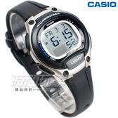 CASIO卡西歐 LW-203-1A 輕巧 10年電力 電子錶 運動錶 防水錶 女錶 童錶 銀x黑 LW-203-1AVDF