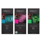 比利時CACHET凱薩精品巧克力100G (64%秘魯/71%哥斯大黎加/80%烏干達)