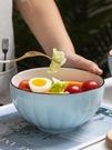 碗 碗家用簡約大湯碗面碗單個北歐家用碗碟套裝餐具組合創意陶瓷湯盆【快速出貨八折搶購】