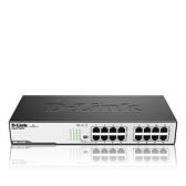 D-Link 友訊 DGS-1016D 16埠 10/100/1000Mbps Gigabit 節能型 交換器