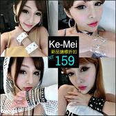 克妹Ke-Mei【AT46777】歐美PUNK暗黑搖滾星星鉚釘寬版皮質龐克手環手鍊(三款)