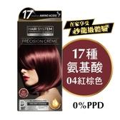 HAIR SYSTEM持久亮麗染髮霜 04 紅棕色